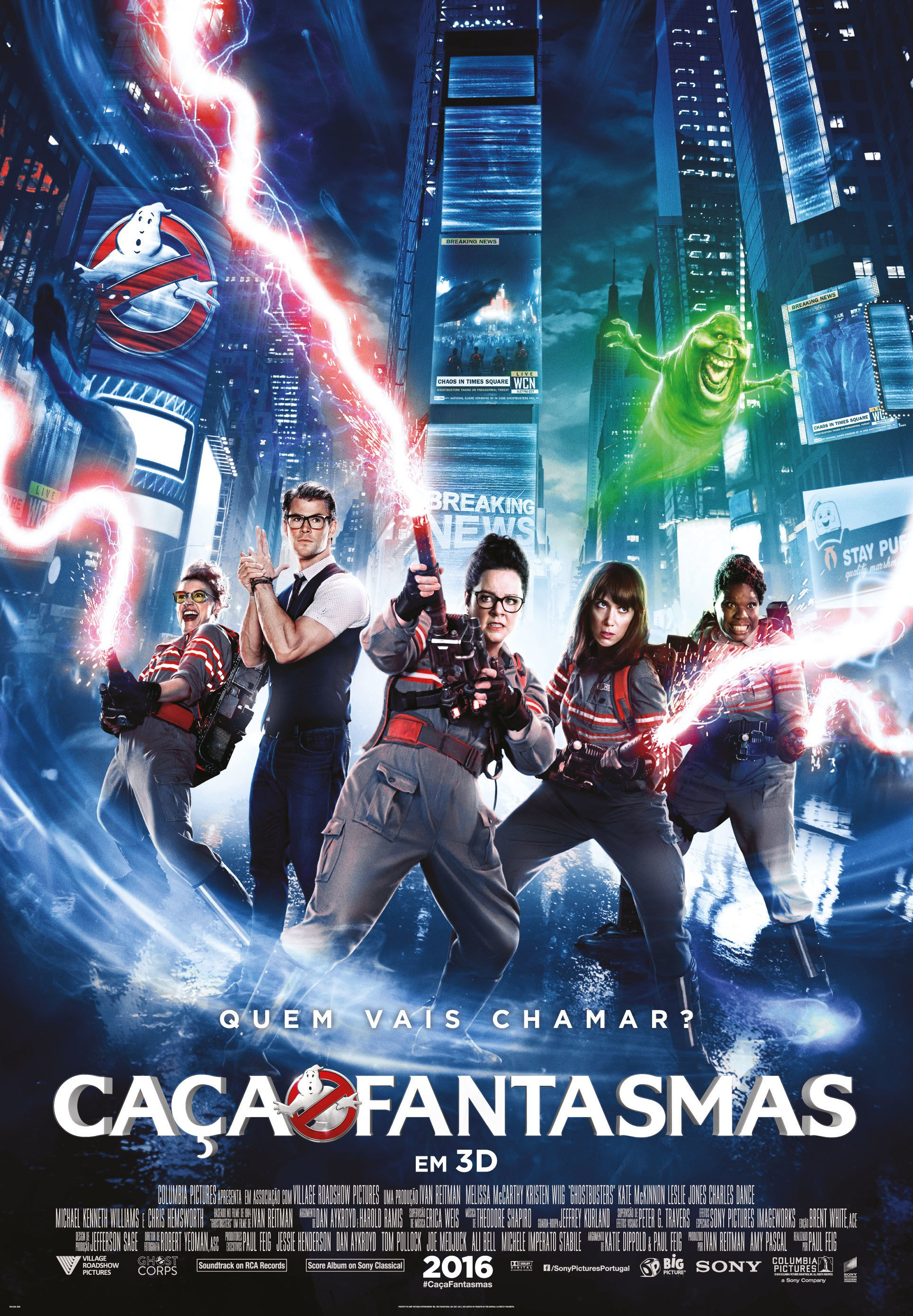 "Poster for the movie ""Caça-Fantasmas"""