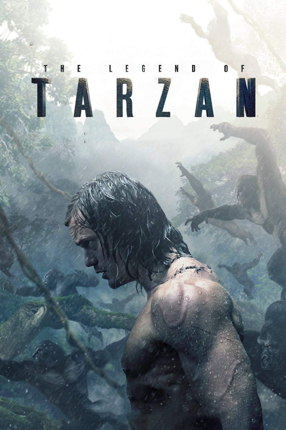 "Poster for the movie ""A Lenda de Tarzan"""