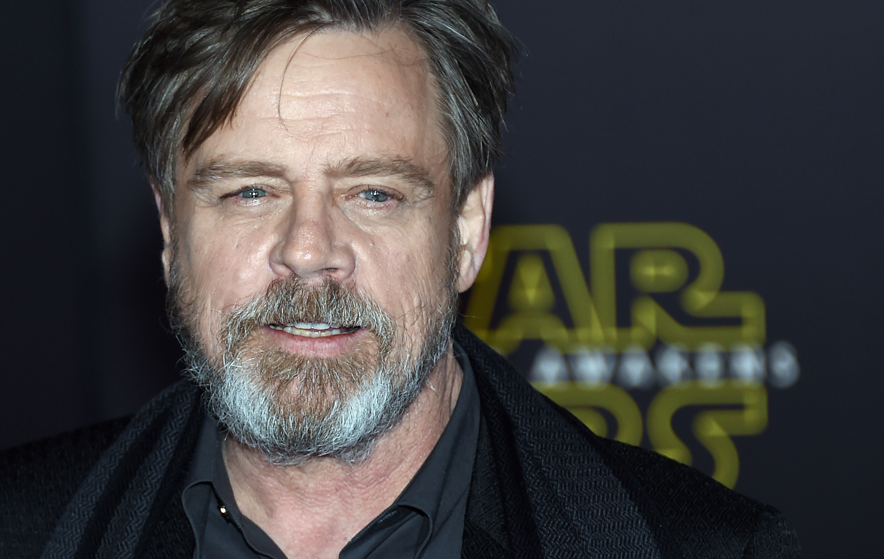 """HOLLYWOOD, CA - DECEMBER 14: Actor Mark Hamill attends the premiere of Walt Disney Pictures and Lucasfilm's """"Star Wars: The Force Awakens"""" at the Dolby Theatre on December 14, 2015 in Hollywood, California. (Photo by Ethan Miller/Getty Images)"""