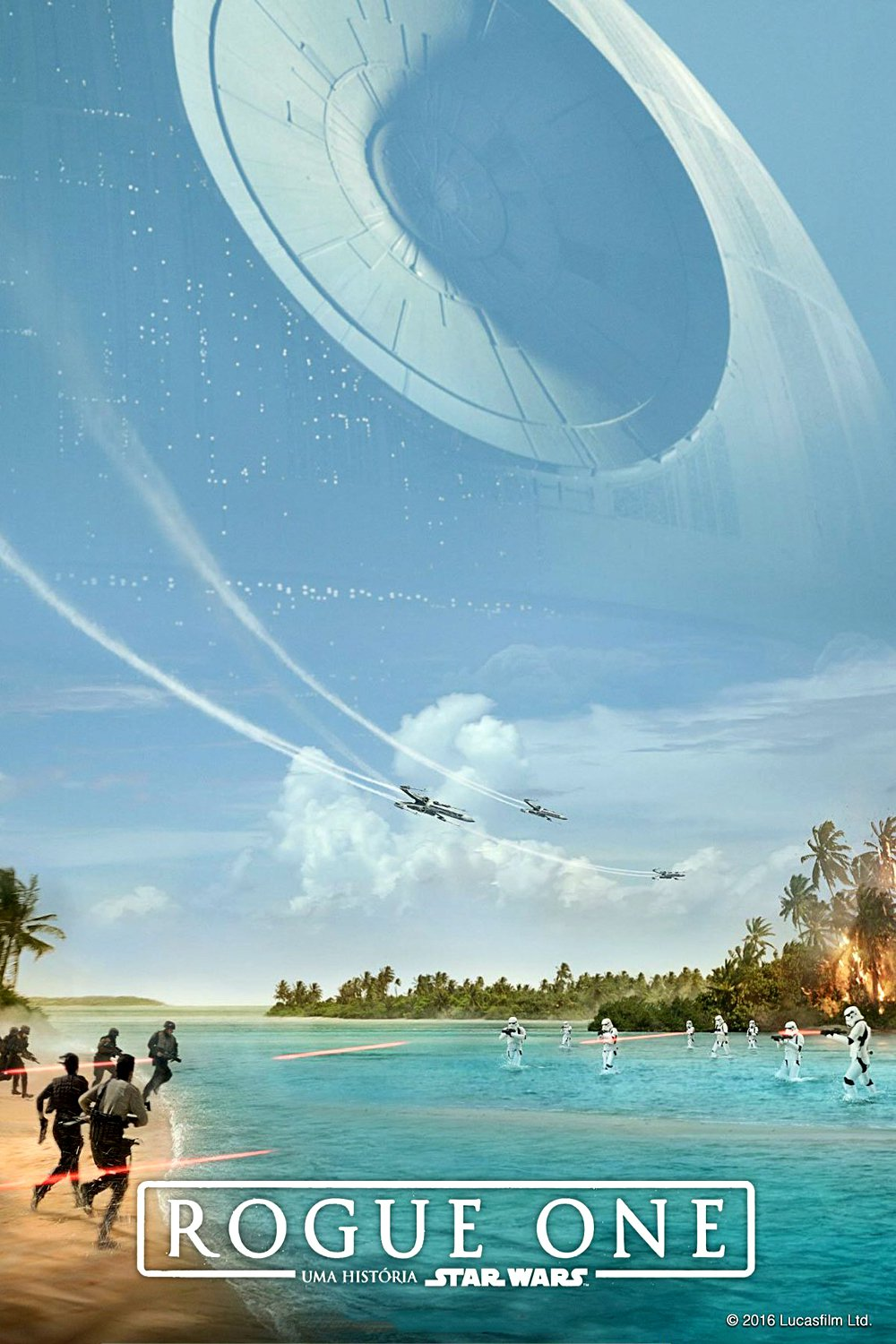 "Poster for the movie ""Rogue One: Uma História de Star Wars"""