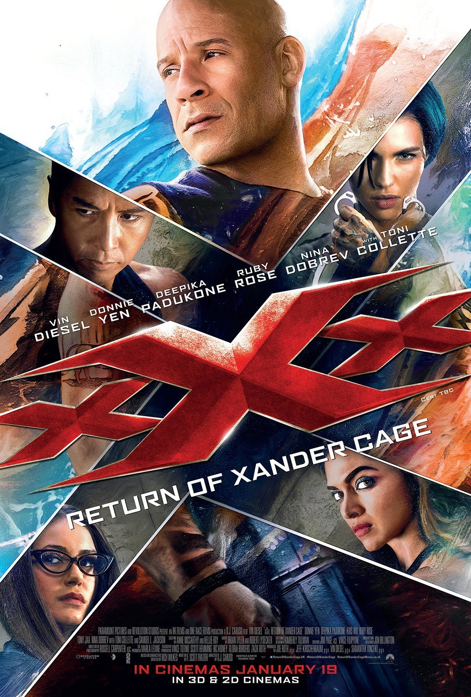 "Poster for the movie ""xXx: Return of Xander Cage"""