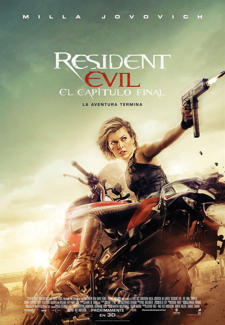 "Poster for the movie ""Resident Evil: Capítulo Final"""