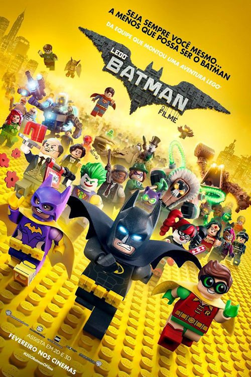 "Poster for the movie ""Lego Batman: O Filme"""