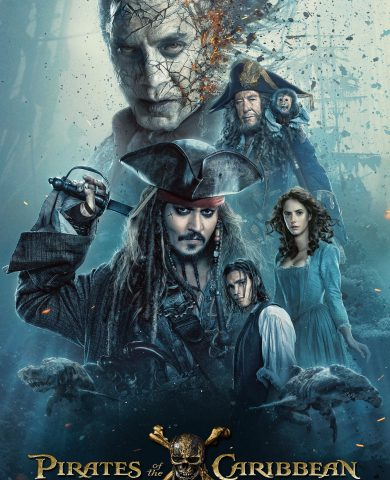 "Poster for the movie ""Piratas do Caraíbas - Os Mortos Não Contam Histórias"""