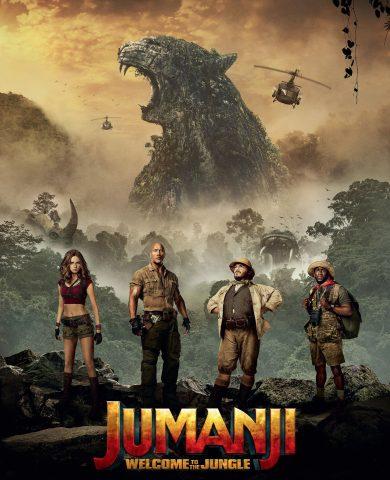 "Poster for the movie ""Jumanji: Bem-Vindo à Selva"""