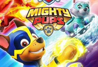 "Poster for the movie ""PAW PATROL: Mighty Pups"""